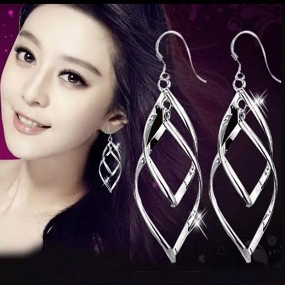 Jewelry - Sterling Silver Double Swirl Earrings